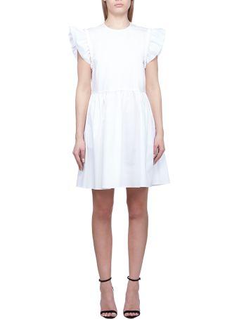 07747cb687 RED Valentino Stretch Compact Poplin Dress