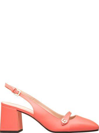 Pollini Pollini Grey Leather Slingback Shoes