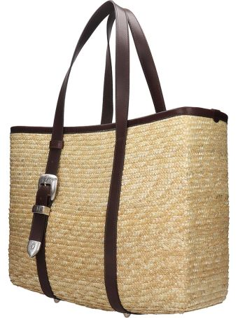 Kate Cate Spina Bag Tote In Brown Silver