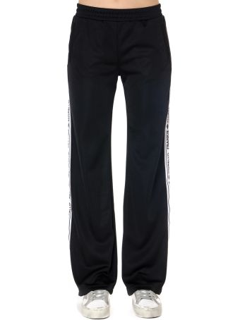 Frankie Morello Black Logo Bands Sport Pants