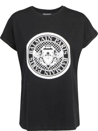 Balmain Flocked Coin T-shirt