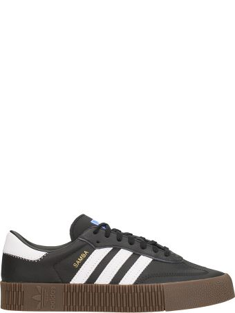Adidas Sambarose Black Leather Sneakers