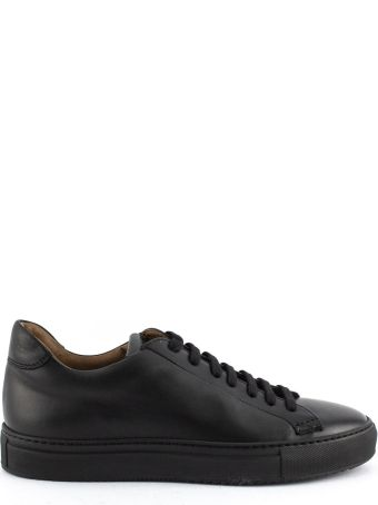Doucal's Sneakers In Black Leather.