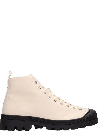 Loewe Beige Canvas Sneakers
