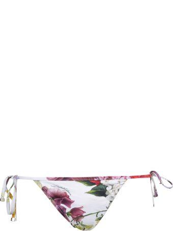 Dolce & Gabbana Floral Tanga Bikini Bottom