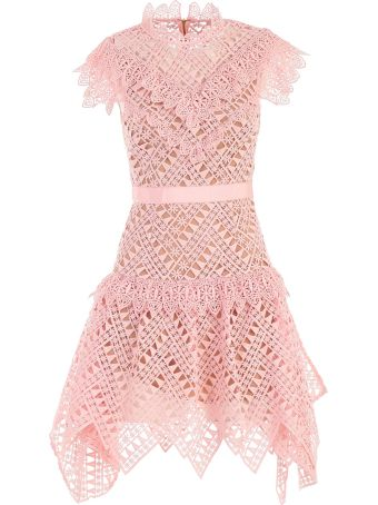 self-portrait Dress Abstract Triangle Lace