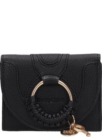 See by Chloé Black Leather Hana Wallet