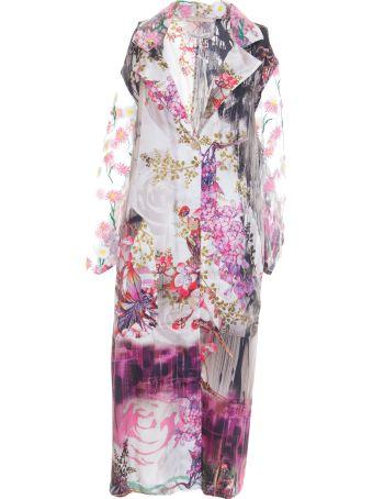 Stefano Mortari Floral Print Trench Coat