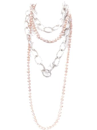 Night Market Jewelry Pearl And Bead Layered Necklace
