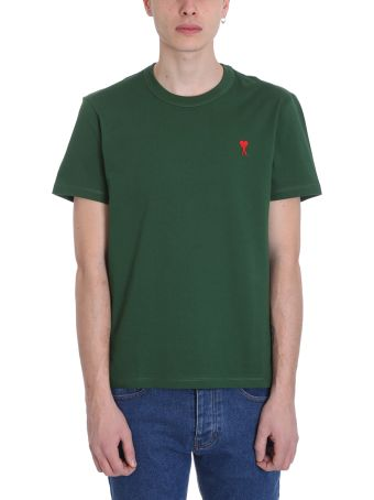 Ami Alexandre Mattiussi Green Cotton T-shirt