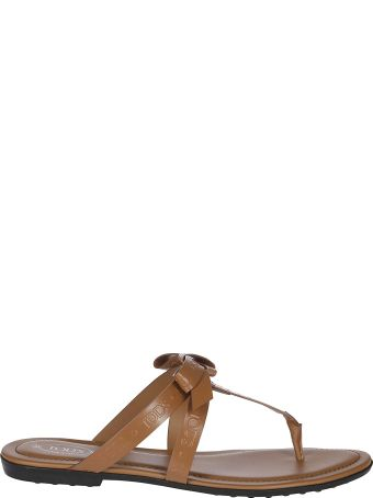Tod's Bow Detail Flat Sandals