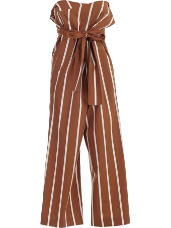 SEMICOUTURE Erika Cavallini Striped Paperbag Trousers