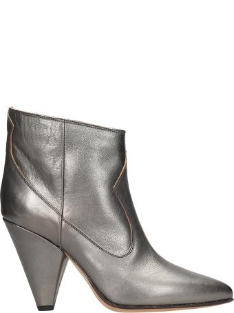Buttero Silver Laminated Leather Ankle
