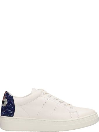 Lola Cruz White Leather Sneakers