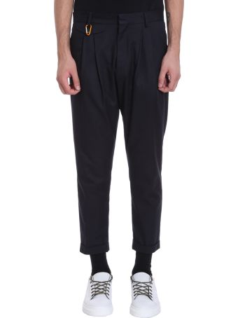 Low Brand Blue Wool Pants