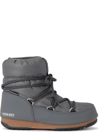 Moon Boot W.e. Low Grey Nylon Waterproof Moon Boot.