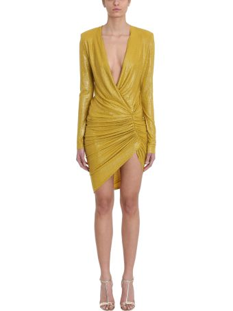 Alexandre Vauthier Crystalized Gold Mini Dress