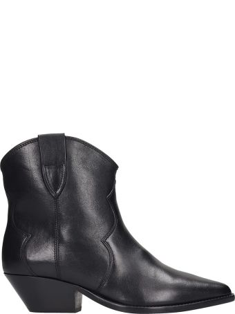 Isabel Marant Dewina Ankle Boots In Black Leather