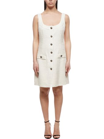 Alessandra Rich Sleeveless Tweed Dress