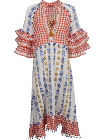 Dodo Bar Or Gingham Tassel Dress