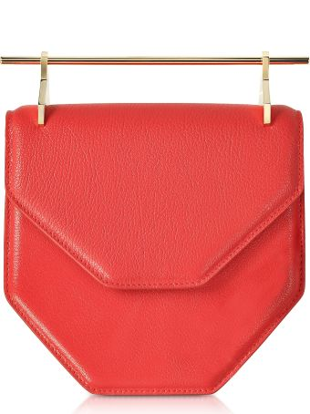 M2Malletier Amor Fati Hibiscus Leather Shoulder Bag