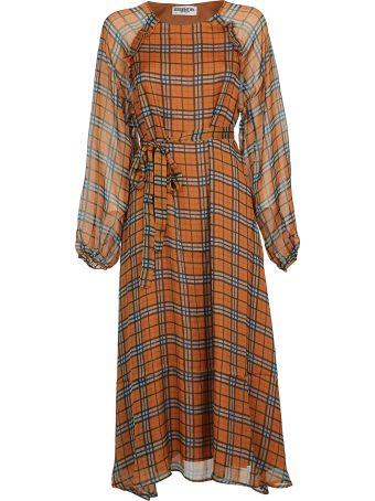Essentiel Checked Midi Dress
