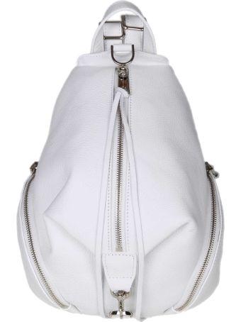 Rebecca Minkoff Julian Backpack In White Leather
