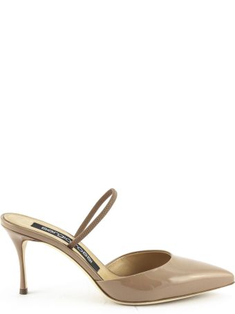 Sergio Rossi Pumps In Nude Patent Leather