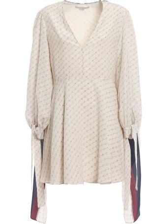 Stella McCartney Stella Monogram Silk Print Dress