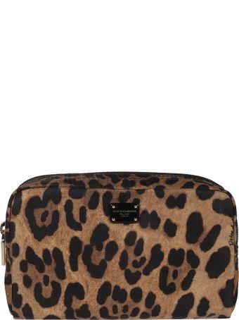 Dolce & Gabbana Leopard Print Beauty Case