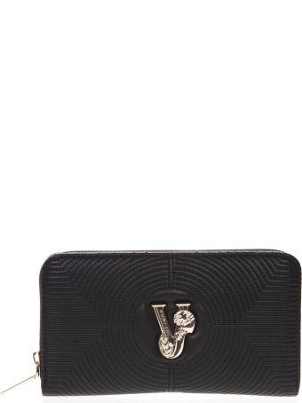 Versace Black Faux Leather Wallet