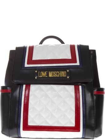 Love Moschino Multicolor Faux Leather Backpack With Quilted Detail
