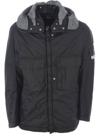 Stone Island Shadow Project Logo Patch Hooded Jacket
