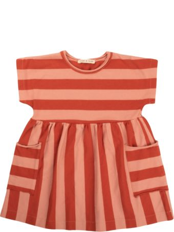 Babe & Tess Pink / Red Striped Dress