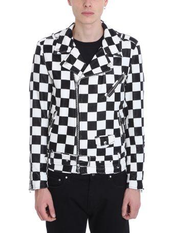 Route des Garden Black-white Velvet Chiodo Jacket