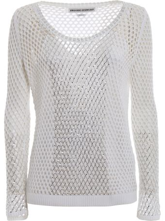 Ermanno Scervino Embellished Mesh Sweater