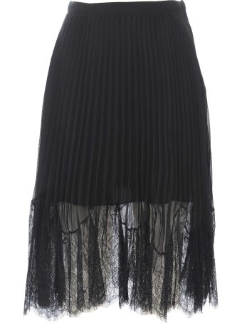 McQ Alexander McQueen Sheer Pleated Skirt