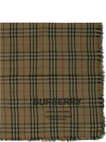 Burberry Embroidered Scarf
