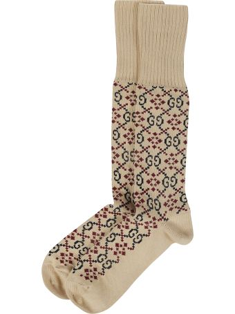 Gucci Gg Motif Diamond Socks