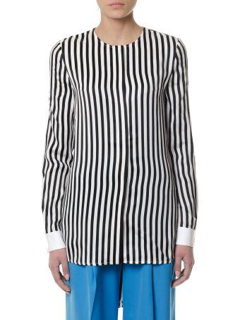 Victoria Victoria Beckham Stripes Viscose Blouse