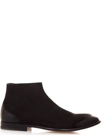 Alexander McQueen Black Ankle Boots In Suede