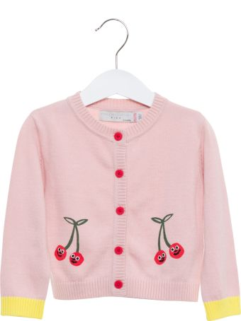 Stella McCartney Cardigan With Contrasting Cuffs And Embroideries