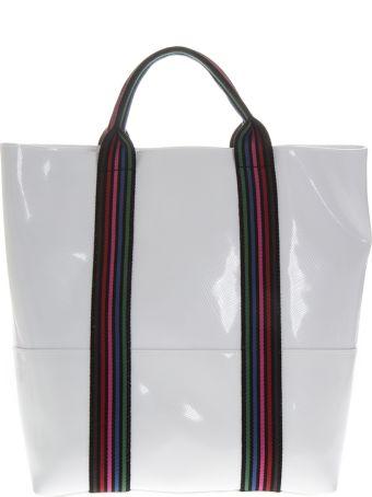 Gianni Chiarini White Vinyl Shopping Bag With Shoulder