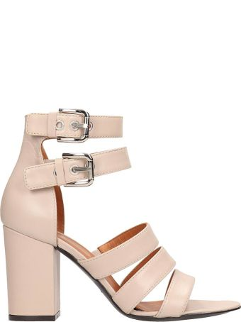 Via Roma 15 Nude Leather Sandals