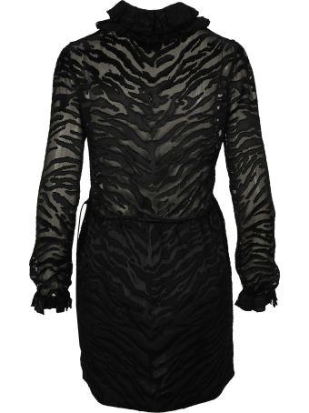 Saint Laurent Zebra Print Sheer Dress