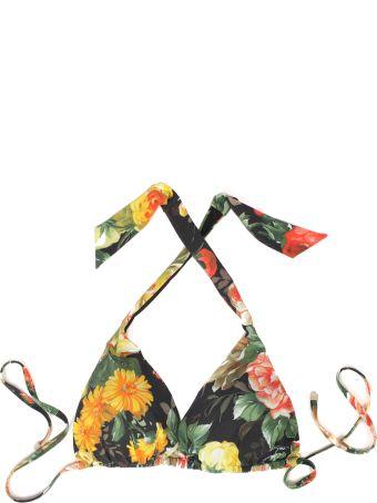 Dolce & Gabbana Swimwear With Flower Print/triangolo Imbottito Mix Flowers