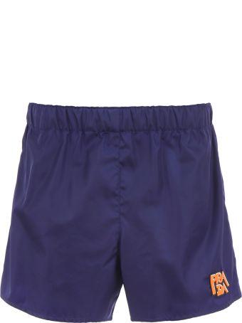 Prada Logo Nylon Shorts