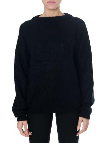 Acne Studios Black Wool-mohair Blend Oversized Jumper