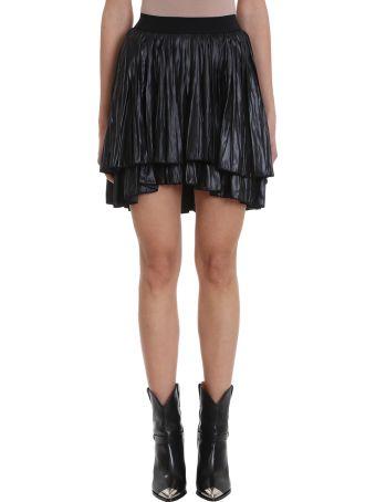 Isabel Marant Dinky Pleated Long-liquid Asymmetric Skirt