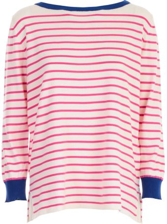 Blugirl Contrast Striped Sweater